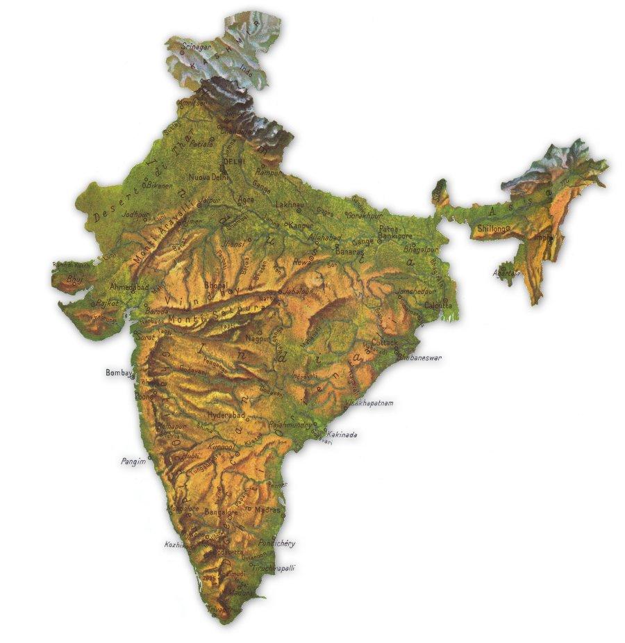 Cartina Geografica Dellindia Fisica.Andreasoldati Com Scuola